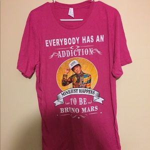 Bruno Mars addiction graphic T-shirt